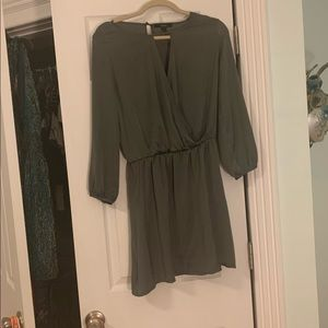 Forever 21 silky olive green dress
